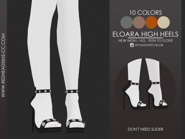 Red Head Sims: Eloara high heels