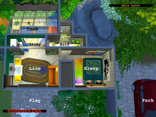 The Sims Resource: Sporting Place Micro Home NO CC by QubeDesign