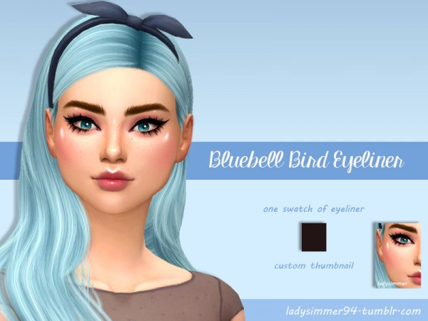 The Sims Resource: Bluebell Bird Eyeliner by LadySimmer94