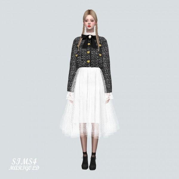 SIMS4 Marigold: SS Ballerina Midi Skirt