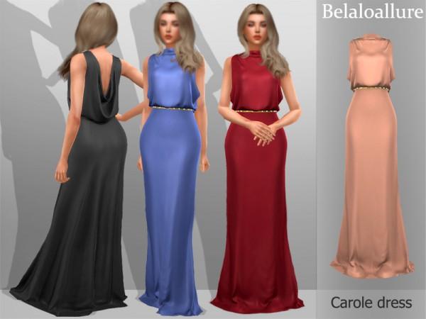 The Sims Resource: Belaloallure Carole dress by belal1997