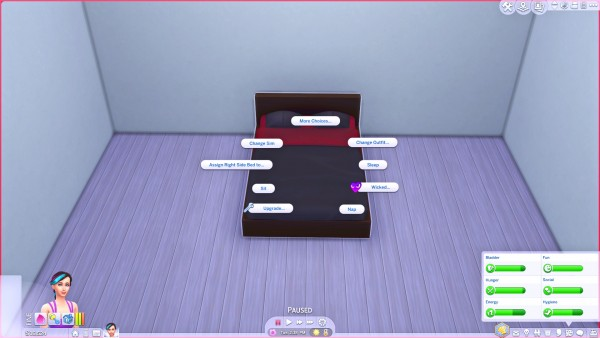 Mod The Sims: Sophisticated Double Bed and Dresser Combo by Splendiferous Sims