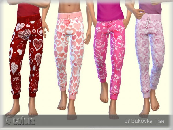The Sims Resource: Valentines Day Pants by bukovka