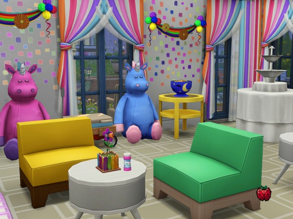 The Sims Resource: Joy   kids party place   no cc by melapples