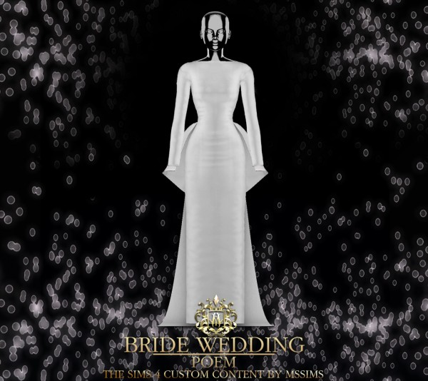 MSSIMS: Bride wedding   Poem dress
