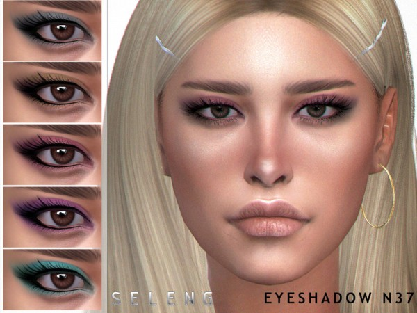 The Sims Resource: Eyeshadow N37 by Seleng