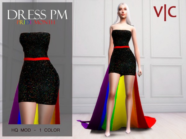 The Sims Resource: Dress Pridemonth I by Viy Sims