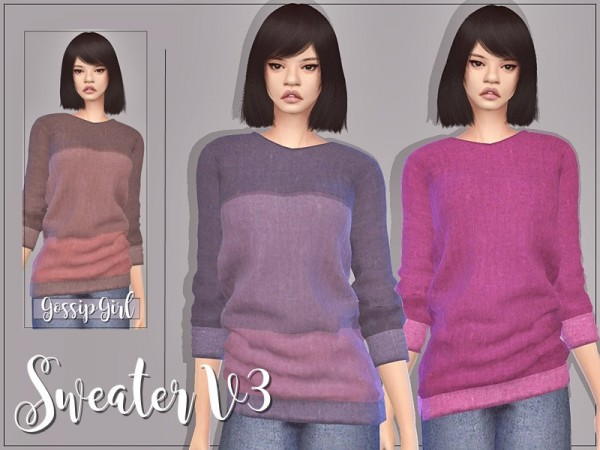 The Sims Resource: Sweater V3 by GossipGirl