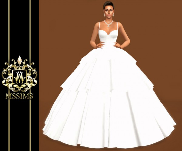 MSSIMS: Bride wedding   Tulle Gown