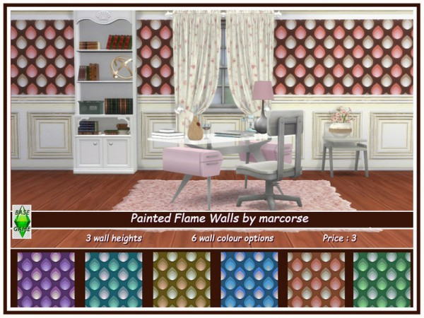 The Sims Resource: Painted Flame Walls by marcorse