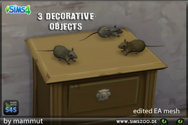 Blackys Sims 4 Zoo: Rats Decorative by mammut