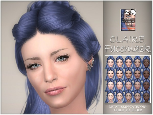 The Sims Resource: Claire facemask by BAkalia