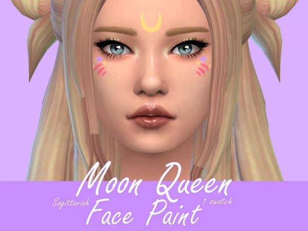 The Sims Resource: Moon Queen Facepaint by Sagittariah