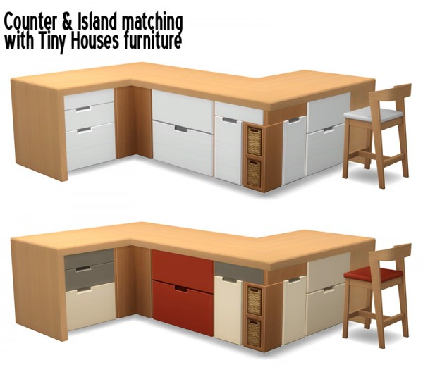 Around The Sims 4: Counter and Island for Tiny Houses