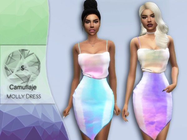 The Sims Resource: Molly Dress by Camuflaje