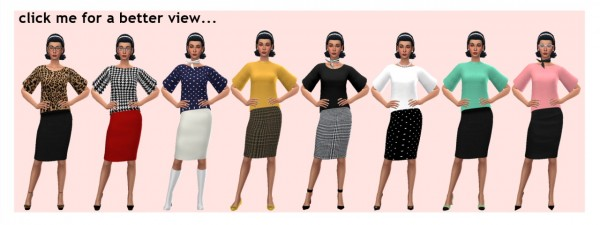Sims 4 Sue: Skirt and Tunic