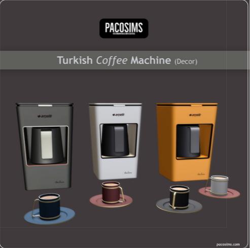 Paco Sims: Turkish Coffee Machine and Coffee Cup (Decor)