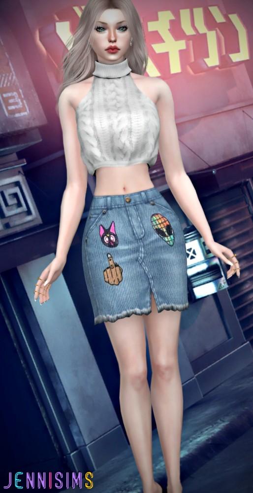 Jenni Sims: Skirt Denim