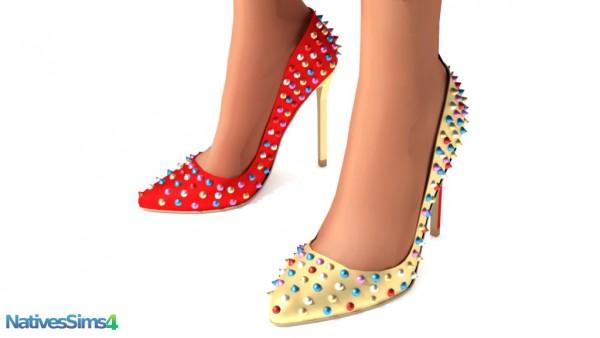Natives Sims: Pump heels studded spike