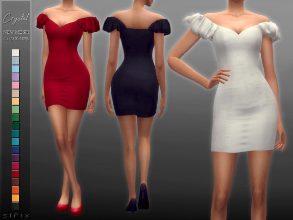 The Sims Resource: Crystal Dress by Sifix