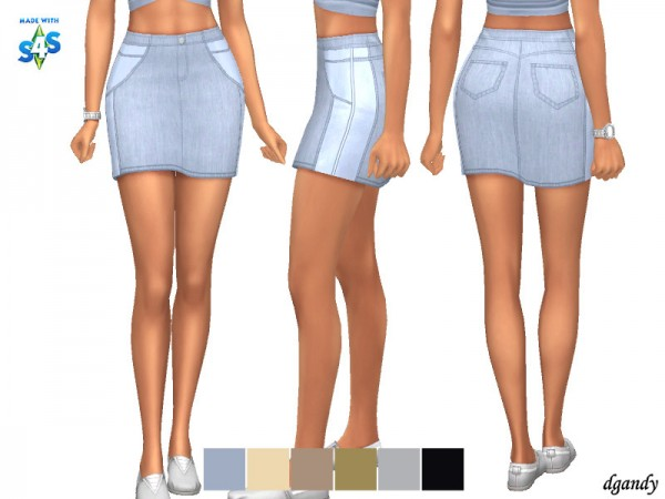 The Sims Resource: Skirt 20200213 by dgandy