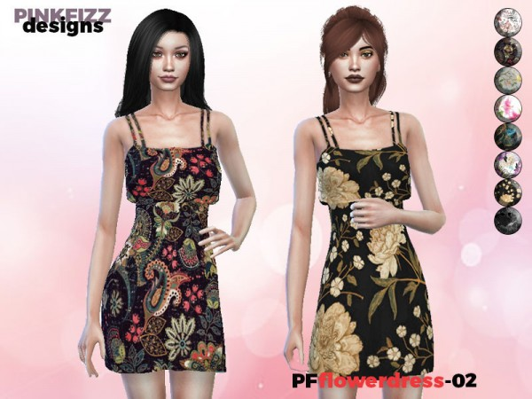 The Sims Resource: Flower Dress PF02 by Pinkfizzzzz