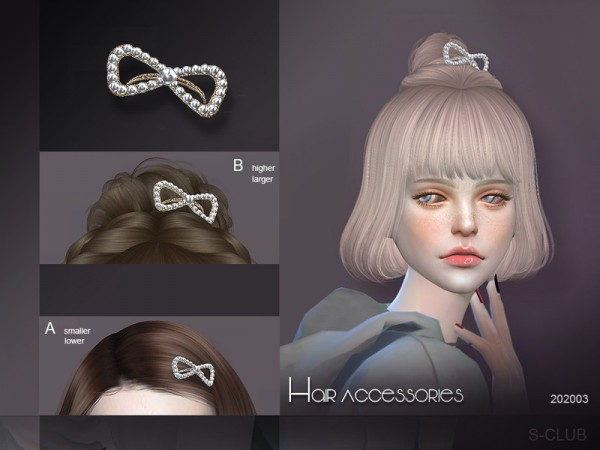The Sims Resource: Hair Accessories 20200 by S Club