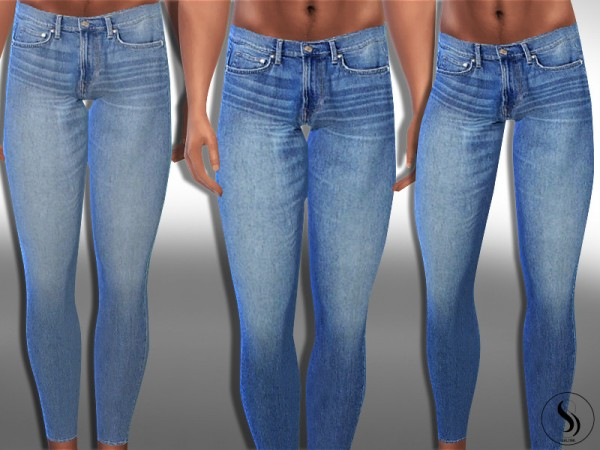 The Sims Resource: Sims Blue Ankle Jeans by Saliwa