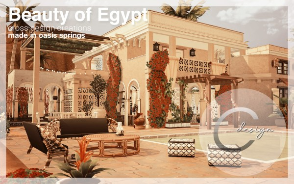 Cross Design: Beauty of Egypt