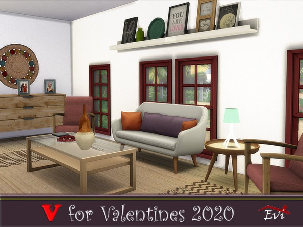 The Sims Resource: V for Valentines 2020 by evi