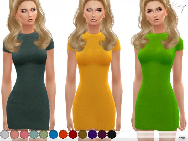 The Sims Resource: Short Sleeve Sweater Dress by ekinege