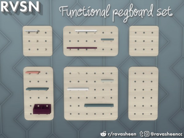 The Sims Resource: Peg To Differ Pegboard Series by RAVASHEEN