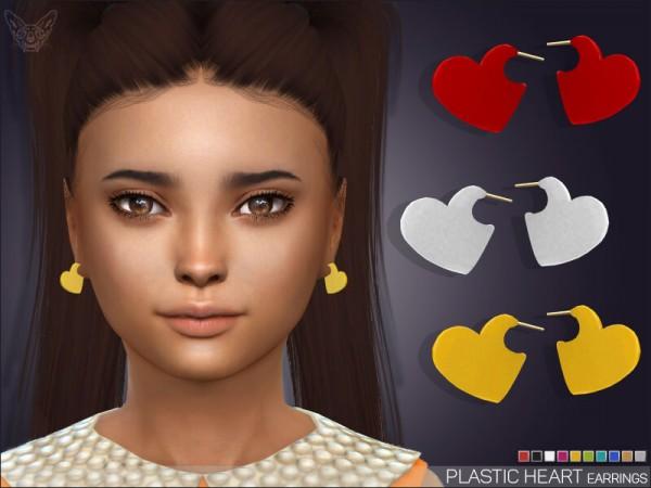 Giulietta Sims: Plastic Heart Earrings For Kids