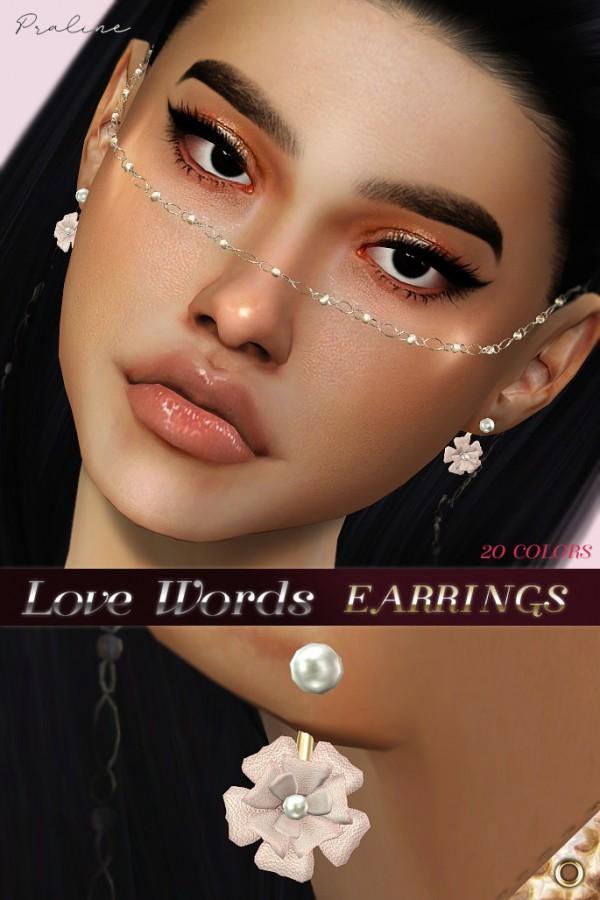 Praline Sims: Love Words earrings