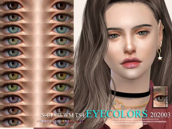 The Sims Resource: Eyecolors 202003 by S Club