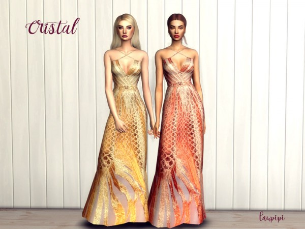 The Sims Resource: Cristal dress by laupipi