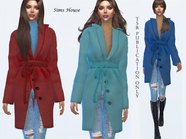 The Sims Resource: Womens short coat with a hood by Sims House