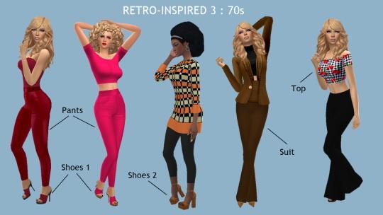Sims 4 Sue: Retro inspired 3 : 70s