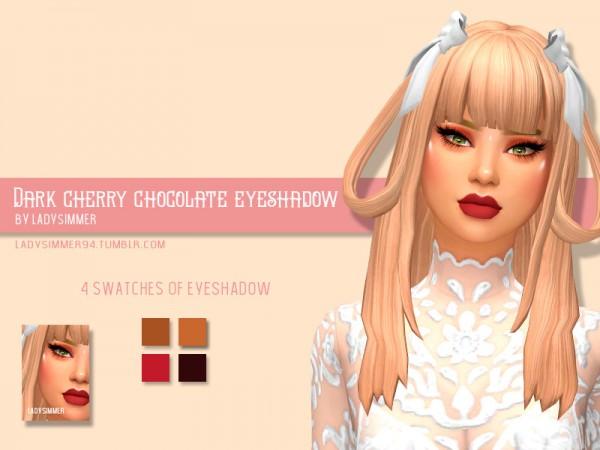 The Sims Resource: Dark Cherry Chocolate Eyeshadow  by LadySimmer94