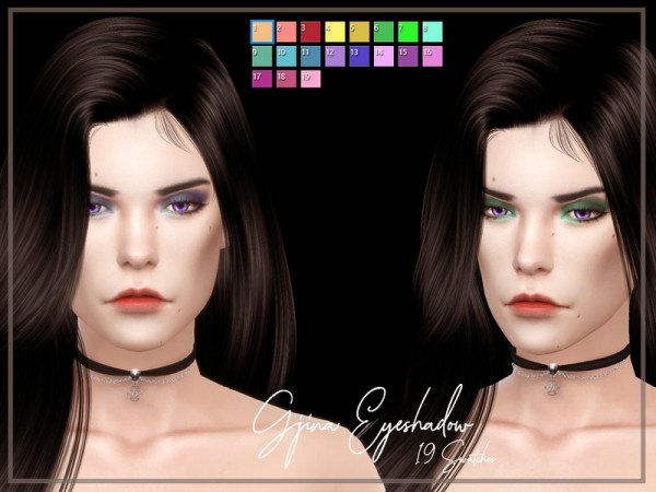 The Sims Resource: Gjina Eyeshadow by Reevaly