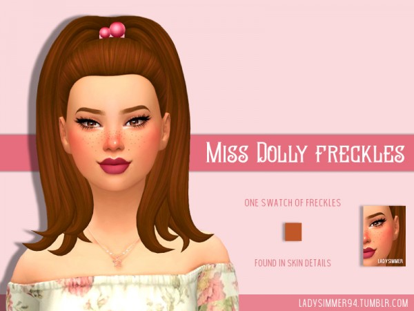 The Sims Resource: Miss Dolly Freckles by LadySimmer94
