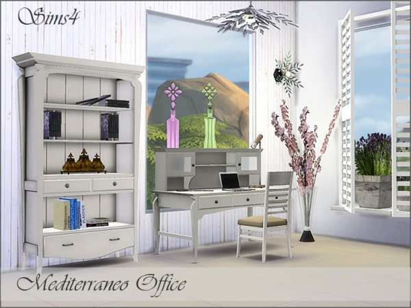 The Sims Resource: Mediterraneo Office by Pilar