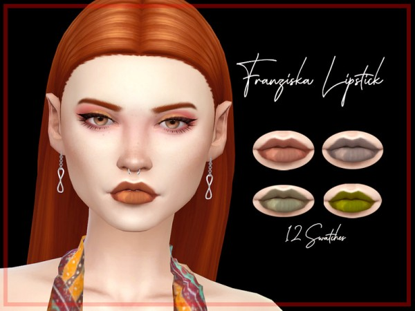 The Sims Resource: Franziska Lipstick by Reevaly