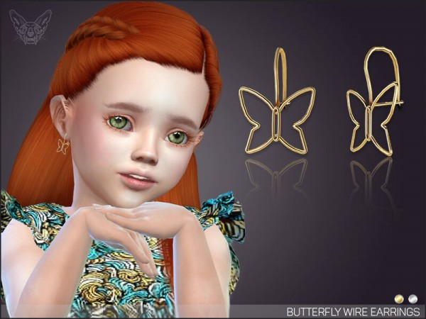 Giulietta Sims: Butterfly Wire Earrings For Toddlers
