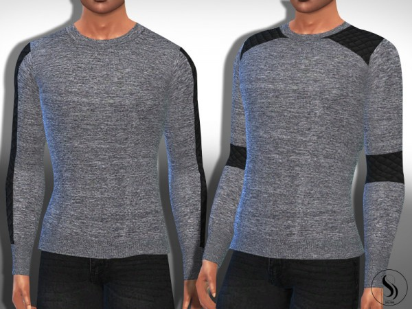 The Sims Resource: Grey Melange Long Sleeve Tops by Saliwa