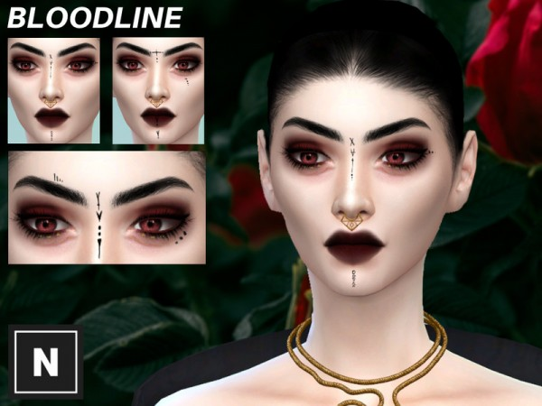 The Sims Resource: Bloodline    tattoo set by networksims