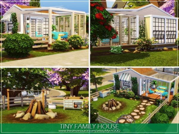 The Sims Resource: Tiny Family House by MychQQQ