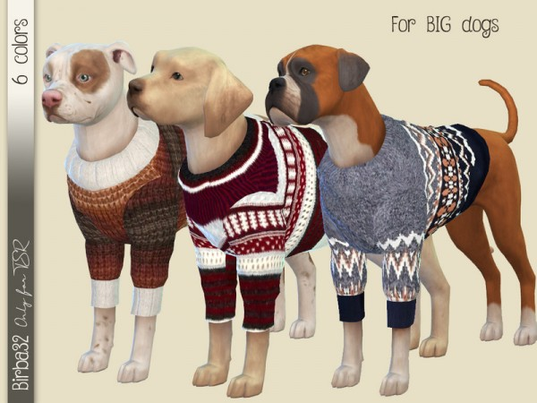 The Sims Resource: Wool sweater for dogs by Birba32