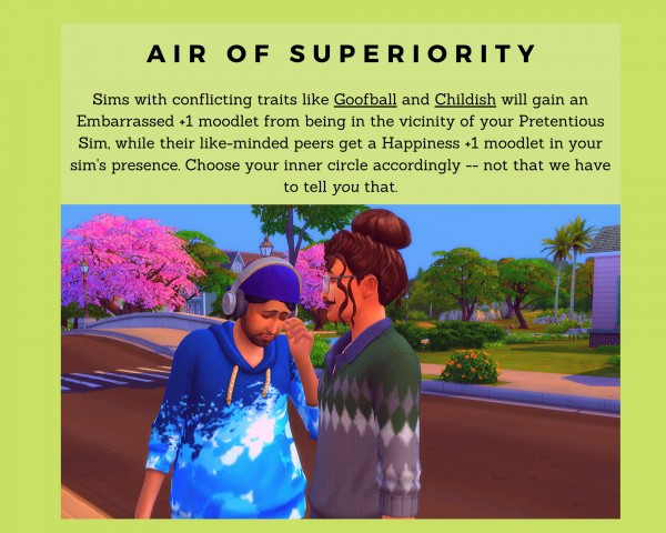 Mod The Sims: Pretentious Trait by blic block