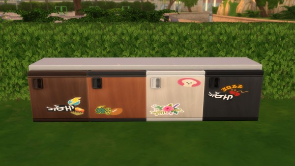 Mod The Sims: Under Counter Mini Fridges by Teknikah